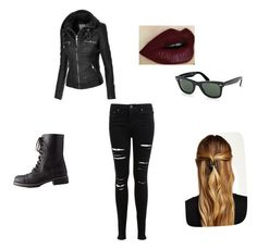 """""""Who's the Girl in the Ray-Bans and the Leather Jacket?"""" by internet-love on Polyvore featuring Ray-Ban, Charlotte Russe, Natasha Accessories and Miss Selfridge"""