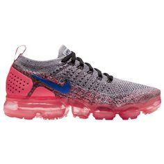 Nike Air VaporMax Flyknit 2 - Womens at Champs Sports Selected Style: White/Ultramarine/Hot Nike Basketball Shoes, Running Shoes Nike, Nike Shoes, Women's Shoes, Soccer, Nike Air Max, Air Max Sneakers, Sneakers Nike, Nike Vapormax Flyknit