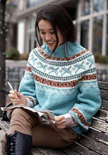 Ravelry: Park Place Pullovers pattern by Bernat Design Studio - free pattern Knitting Designs, Knitting Patterns Free, Knit Patterns, Free Knitting, Free Pattern, Pattern Ideas, Top Pattern, Punto Fair Isle, Ravelry