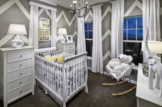 A way too cute nursery! From the Kennedy Model in Manassas Park, VA from Ryland Homes