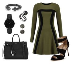 """Dark Night Out"" by samantha-leiner on Polyvore featuring Carvela, Yves Saint Laurent, CLUSE, David Yurman and Cathy Waterman"