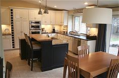 White cabinets, stainless steel appliances