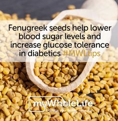 Fenugreek can be effective in lowering blood sugar after meals. Fenugreek seeds contain an amino acid, 4-hydroxyisoleucine, which is believed to boost insulin production by stimulation of the beta cells of the pancreas, which secretes insulin. #MWLtips Be aware that certain #spices can cause side-effects and/or interact with certain medications, so always check with your healthcare provider before using them #medicinally.