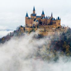 Hohenzollern Castle is a castle approximately 50 kilometers south of Stuttgart, Germany. It is considered the ancestral seat of the Hohenzollern family, which emerged in the Middle Ages and eventually became German Emperors.