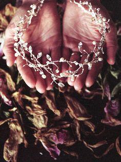 VID de INVIERNO  bohemio inspirado en tocado de novia perla