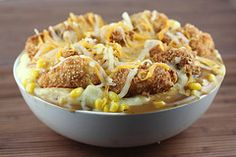 Mashed Potato Bowl VERDICT: one of my favorite super-not-good-for-you comfort meals!