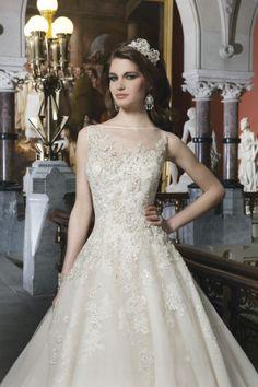 High-neck embellished lace ballgown | Justin Alexander Spring 2014 - The Gallery - Wedding Blog | Ireland's top wedding blog with real weddings, wedding dresses, advice, wedding ...