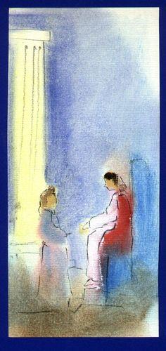 Snelle schets voor getuigschrift; olie op papier: Esther