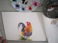 ▶ Sumi Style Kauai Rooster in Watercolors - YouTube