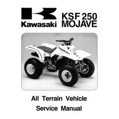 new kawasaki ksf250 250 mojave service repair manual repair manuals rh pinterest com kawasaki atv service manual free download kawasaki 650 atv service manual