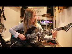10 year old guitarist Zoe Thomson plays Canon, Rock version by Johann Pachelbel - YouTube