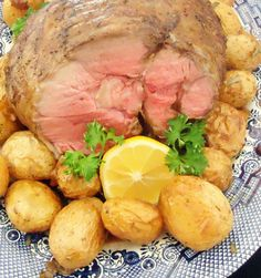One Perfect Bite: Roasted Lamb with Lemon, Garlic and Rosemary Potatoes