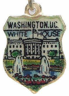 White House Washington DC Silver Travel Shield Charm   eBay