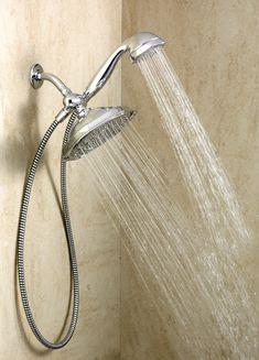 "Refresh Chrome seven-function 9"" diameter spray head standard with handshower showerhead -- 21005 -- Moen"