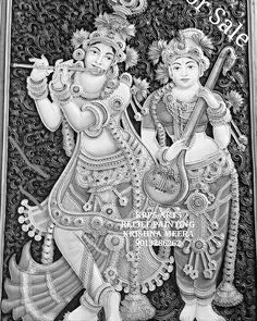 Kalamkari Painting, Madhubani Painting, Clay Wall Art, Clay Art, Mirror Painting, Silk Painting, Kerala Mural Painting, Gold Leaf Art, Lord Krishna Images