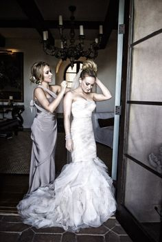 Hilary Duff wedding dress- custom vera wang