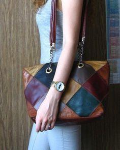 kolorowa torebka na ramię