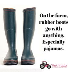 We know about farm girl fashion. www.pinktractor.com