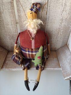 """Купить """"Дедушка - Новый год"""" интерьерная примитивная кукла - новый год 2013, Новый Год"""