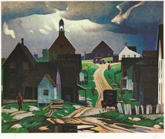 'Ontario: A Complete Set of 30 Prints' by Alfred Joseph Casson at Cowley Abbott Emily Carr, Canadian Painters, Canadian Artists, New Artists, Group Of Seven Paintings, Tom Thomson Paintings, Ontario, National Art, Illustrations
