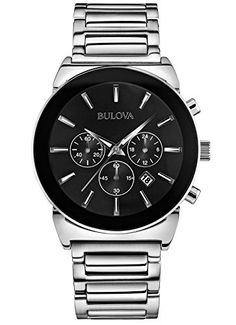 Men's Wrist Watches - Bulova 96B203 Mens Dress Silver Chronograph Watch * Read more reviews of the product by visiting the link on the image.