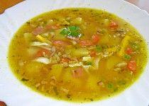 "Česnečka ""zmrtvýchvstání"" Czech Recipes, Ethnic Recipes, Thai Red Curry, Food, Diet, Losing Weight, Essen, Meals, Yemek"