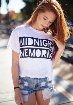 Midnight Memories Crop Shirt