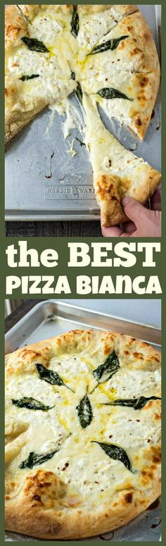 The Best Pizza Bianca (White Pizza) – The BEST white pizza you will ever make! Made with store-bought dough, shredded mozzarella cheese, ricotta cheese, and Pecorino Romano cheese, this pizza is super simple to make and will be best addition to your weeknight dinners.