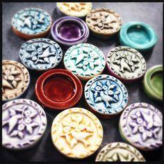 Yesterday's bird shadowbox beads. | by RoundRabbit