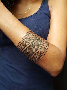 Image result for tatouage polynesien bracelet femme