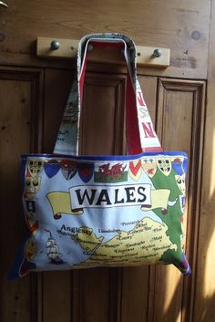 Vintage tea towel tote /  beach bag