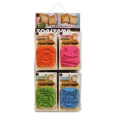 """BRANDNEW 'SANDWITCH TOAST STAMP   Good for decorating SANDWITCH.   Size ( approx) : """"3.5 inches X 3.1 inches    Please prepare thick bread.   recommended more than 1.37 inches thick.  You also can cut out ham, cheese, vegetables...etc.  One of each design available."""