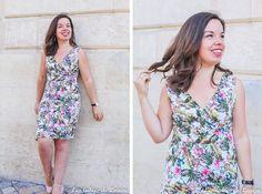Voici ma jolie robe d'été : c'est la robe Alix, un patron de couture de Coralie Bijasson. Modèle cache-cœur en jersey qui peut être décliné en top ou en robe, avec ou sans manches. C'est un modèle de niveau intermédiaire à coudre en jersey.#patrondecouture #patronfemme #patronrobe Blog Couture, Creation Couture, Corsage, Parfait, Voici, Dresses, Diy, Fashion, Sewing Ideas