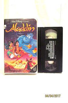 1993 Walt Disney Classic Aladdin VHS Animated Movie Clamshell Black Diamond