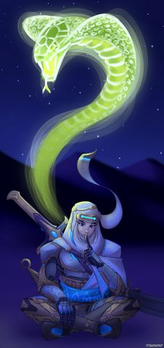 Khassar de Templari - itsmimint: I kinda wish Genji's dragon would...