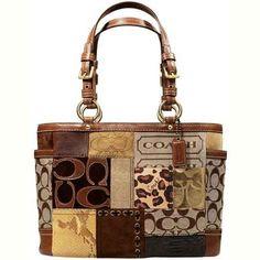Coach patchwork bag - More Details → http://denisefashiondesignerclothes.blogspot.com/2013/01/coach-patchwork-bag.html.