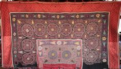 Antique Kazakh wall hanging