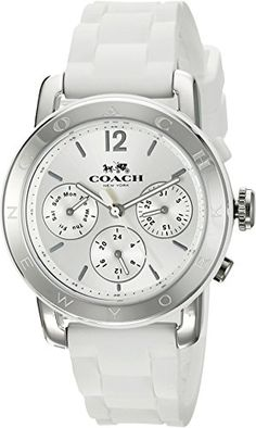 COACH Women's Legacy Sport - I Really Want a white watch:) and this one is awesome. But I need waterproof or Water Resistant