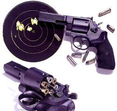 Medusa Model 47 Revolver, which can chamber and fire 25 different caliber bullets. A revolver that has the capability to hold different caliber amunition? Zombies, Love Gun, Cool Guns, Survival Gear, Apocalypse Survival, Survival Stuff, Survival Prepping, Zombie Apocalypse, All Things Purple