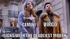 Gemini Daily, Gemini Life, Gemini And Virgo, Zodiac Signs Astrology, Zodiac Star Signs, Gemini Zodiac, Virgo Memes, Gemini Quotes, Zodiac Memes