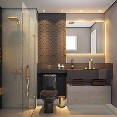 There's no better way to add a sophisticated touch to your bathroom than with a modern bathroom vanity. A modern bathroom vanity will make an ordinary house look classy and modern, thanks to how it impacts the look and feel of the bathroom. Bad Inspiration, Bathroom Inspiration, Bathroom Ideas, Bathroom Vanities, Bathroom Cabinets, Bathroom Plans, Bath Ideas, Bathroom Colors, Bathroom Remodeling