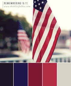 Inspirational hues from our beauitful American Flag | The Blissful Bee