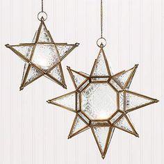 Decor/Accessories - Star Hanging Lantern Candleholders | Lighting| Home Decor | World Market - star, hanging, lantern, candleholders