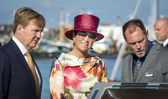 King Willem-Alexander and Queen Maxima visit region Noord-Holland King Willem-Alexander and Queen Maxima of The Netherlands on a region visit to the top of Noord-Holland. 12 September 2014.