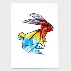"""Geo Rabbit"" Aerosol Print by Component"