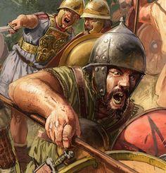 Celto-iberian warrior in combat, Second Punic War