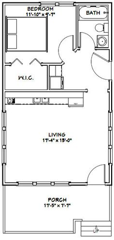 House plans cottages and tiny cottages on pinterest for 18x30 house plans