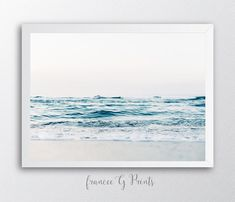 Ocean PRINTABLE  Art  Nordic Art Print by FranceeGPrints on Etsy