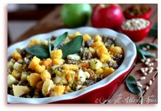 Gluten-Free Cornbread and Crusty Bread Stuffing With Apples, Sausage ...