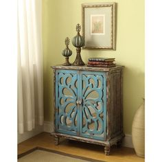 Somette Brown Weathered 2-door Cabinet - 17719897 - Overstock.com Shopping - Great Deals on Somette Coffee, Sofa & End Tables